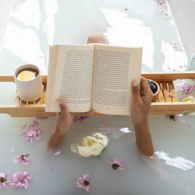 Bain livre fleur café bien-être